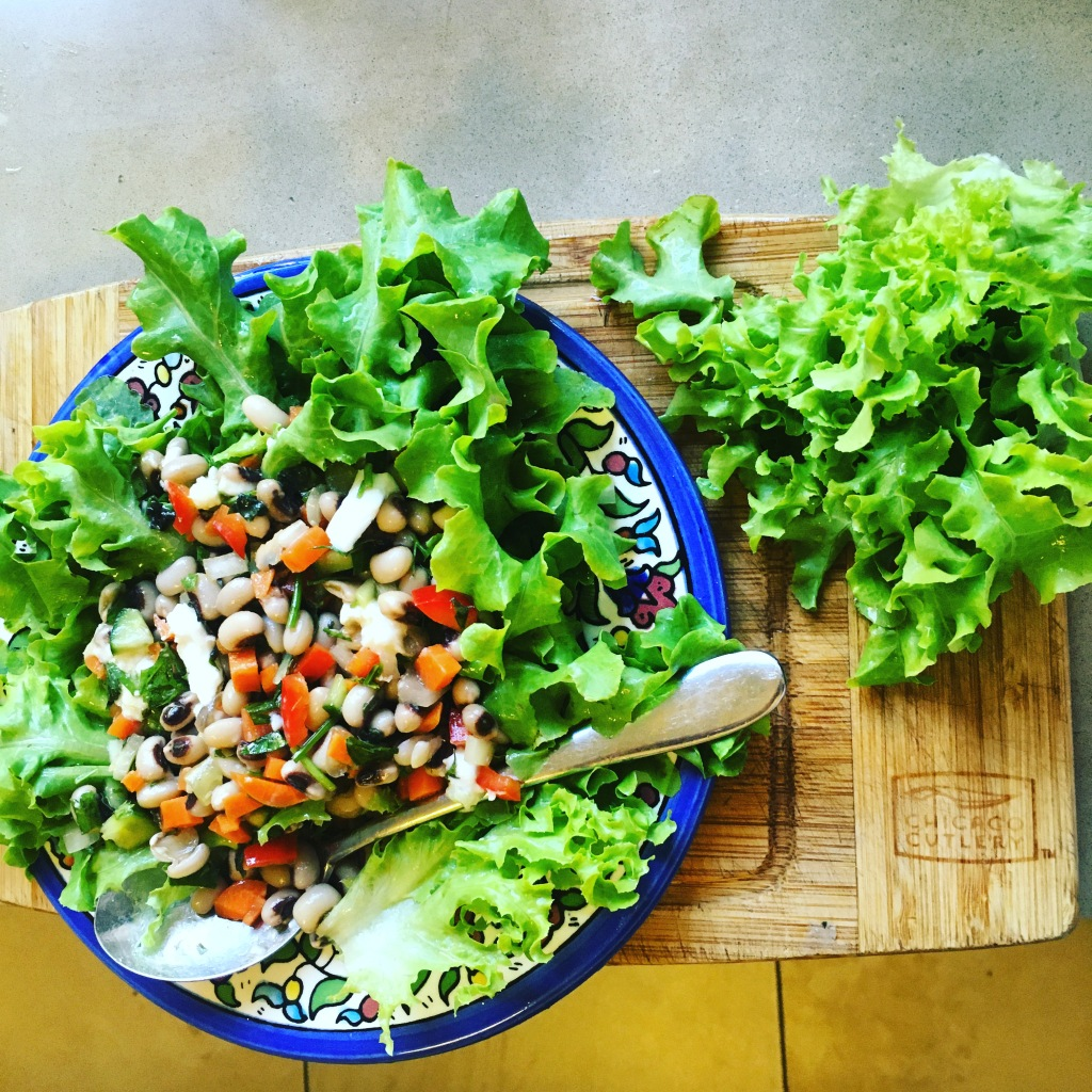 Black-eyed pea salad is a traditional New Years food in many cultures, including Judaism.
