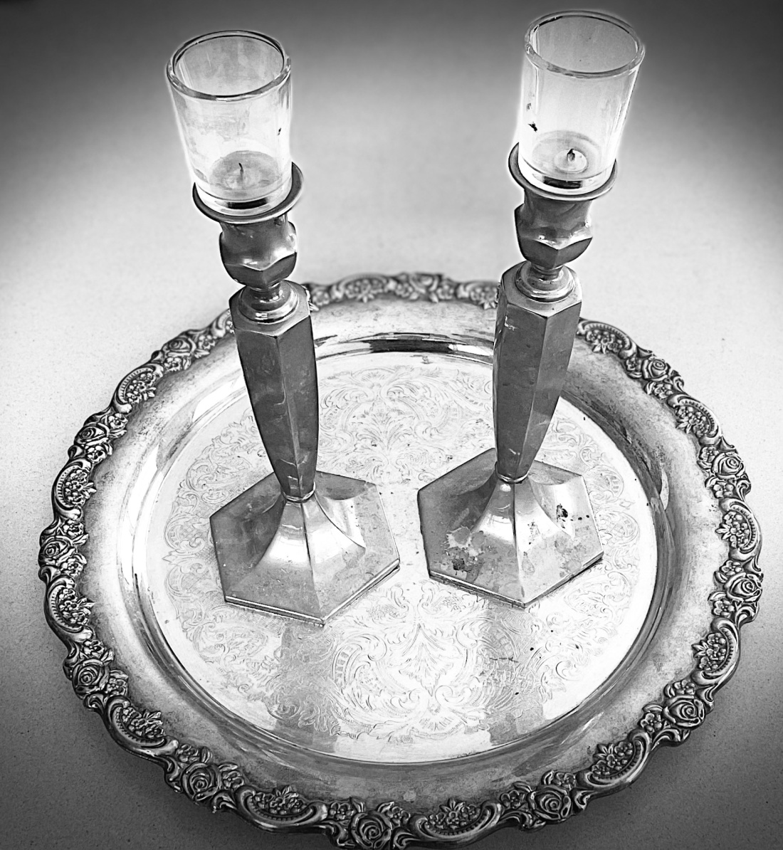 My Bubbe's Shabbat Candlesticks